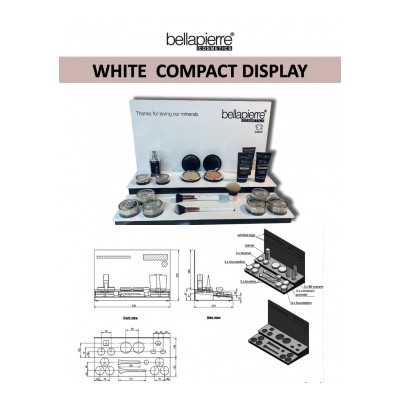 Compact white display