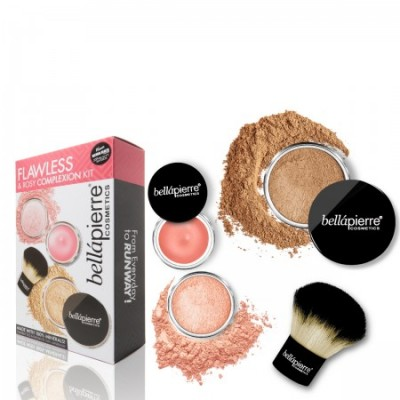 Flawless & Rosy Complexion Kit - Dark
